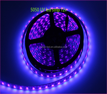 2017 New product black light 5050 12v 365nm 395-405nm uv strip led