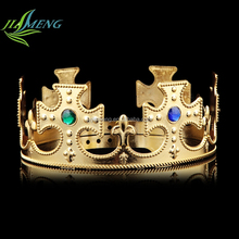 Gold Plastic Head Crown For Adults,Queen princess Crown For Sale