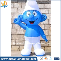 New design ourdoor dispaly large inflatable smurfs