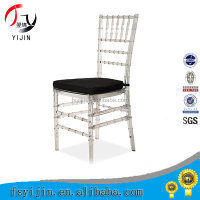 Modern Appearance Clear Crystal Resin Napoleon Chair With Fixed Cushion