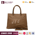 HEC Guangzhou Handbag Factory Supply Big Size Lady Leather Handbag
