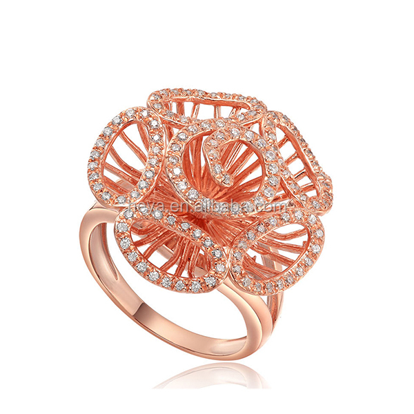 American style Rose gold rings design for women
