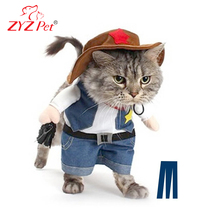 Halloween fashion designer jeans cat winter clothes funny cute pet clothes