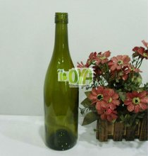 750ml Green Burgundy Alcohol Container with Lids