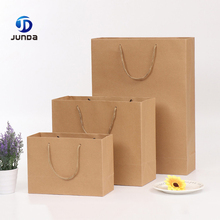 Wholesale Custom Brown Craft Shopping Kraft Paper Gift Bag With Handle Printing Your Own Logo