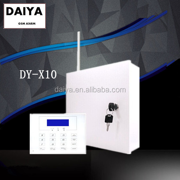 DAIYA wired wireless burglar security gsm alarm system with LCD screen keypad for bank/shop DY-X10