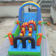 Pop jungle Inflatable obstacle cousre inflatable bouncer jumping with OEM service