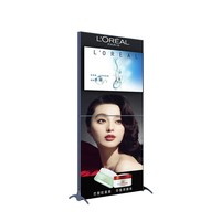Aluminum advertising banner stand with TV