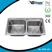 Safety Solid Stainless Steel Kitchen Inox Sink SS304 SS316