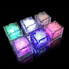 Flashing led plastic ice cube