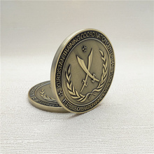 Custom 3D gold souvenir medallion metal challenge coin