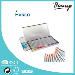 Hot Sell Marco Raffine 24 36 48 72 Colors Professional Colored Pencil For Drawing Painting Sketch Iron Boxed