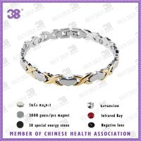 Fashion Bio magnetic stainless steel bracelet for women