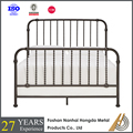 Metal bed room furniture set modern