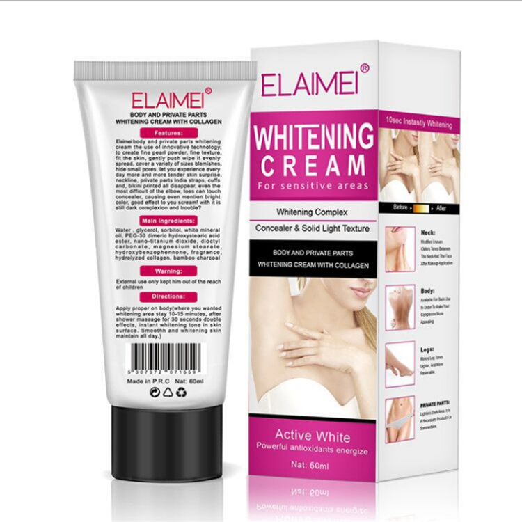 ELAIMEI Underarm Whitening <strong>Cream</strong> for Sensitive Area Skin Body and Private Parts Whitening <strong>Cream</strong> Skin Care Underarm Leg Arm knee