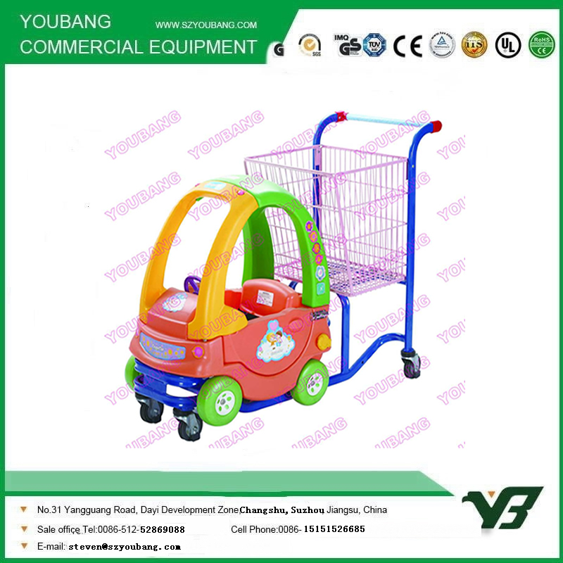 Supermarket Children Toy Shopping Trolley Cart