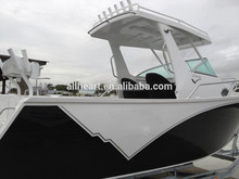 23ft aluminum enclosed cabin fishing pleasure boat with outboard motor