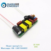 36W EMC led driver with open frame PF>0.9 /300MA electronic power led