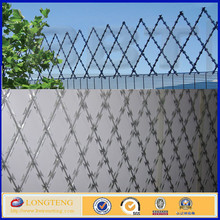 welded diamond flat razor strip wall topping razor security cheap fence