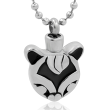 Stainless Steel Cat Shaped Cremation Pendant Necklace Memorial Jewelry