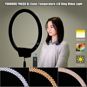 Original brand YONGNUO YN608 CRI 95+ 5500K 4864LM Adjustable LED Photography Camera Video Studio Wireless Ring Light for Canon