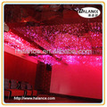 hotel,KTV,home ceiling fiber optic decorative red crystal chandelier