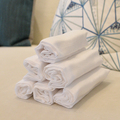 Plain Color Foldable Organic Cotton Cream Baby Blanket
