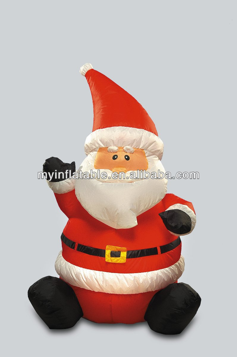 inflatable outdoor sitting santa christmas party stuff