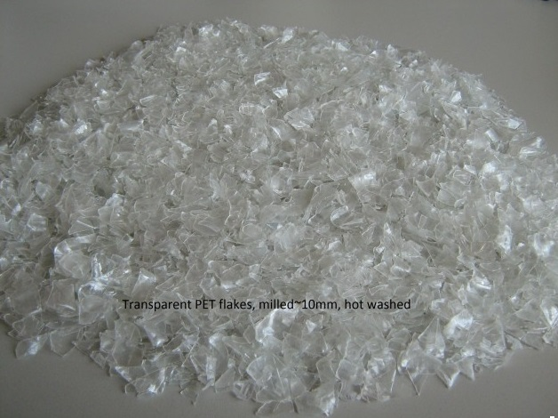 Pet Flakes Hot Washed Transparent A Quality