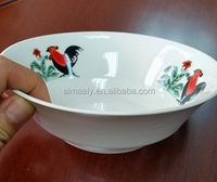customized ceramic chicken bowl cheap chicken salad bowl