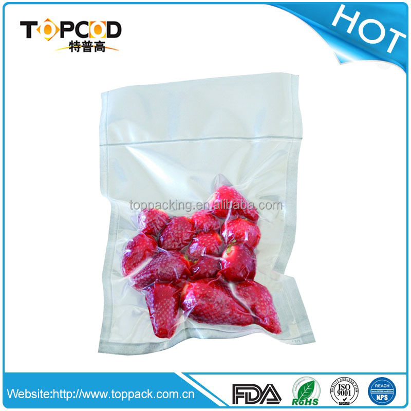 Clean embossed vacuum bags / rolls for frozen food packaging
