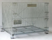 Warehouse Storage Container Metal Wire Mesh Cage RH-C-F for Sale