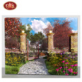 Hanging Lighted  Wooden Wall Art Canvas with Nice Spring Picture