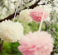 Hanging Wedding Colorful Handcraft Flower From Paper