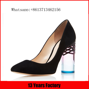 new design cow suede upper high heel pointed toe women single small orders ladies shoes guang zhou