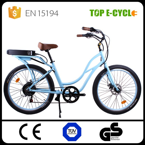 TOP CE 2017 Bafang Motor Cheap Road Bike 48V 500W Girls Lowrider Beach Cruiser Bike/e bicycle Electric Bike/Electric Bicycle