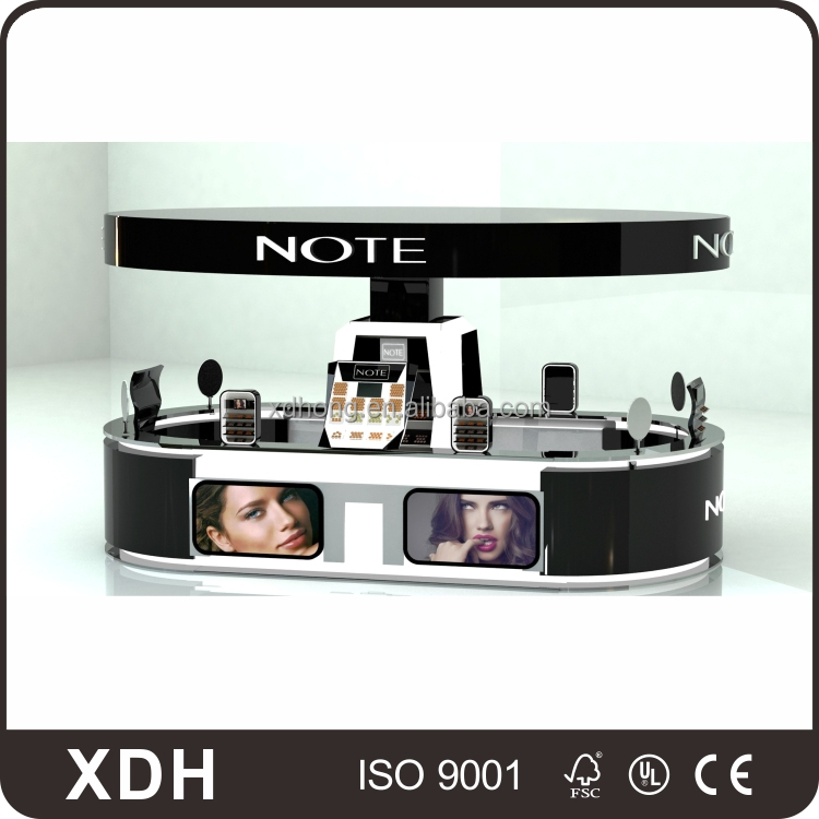 Custom design wholesale retail mall cosmetic kiosk for makeup