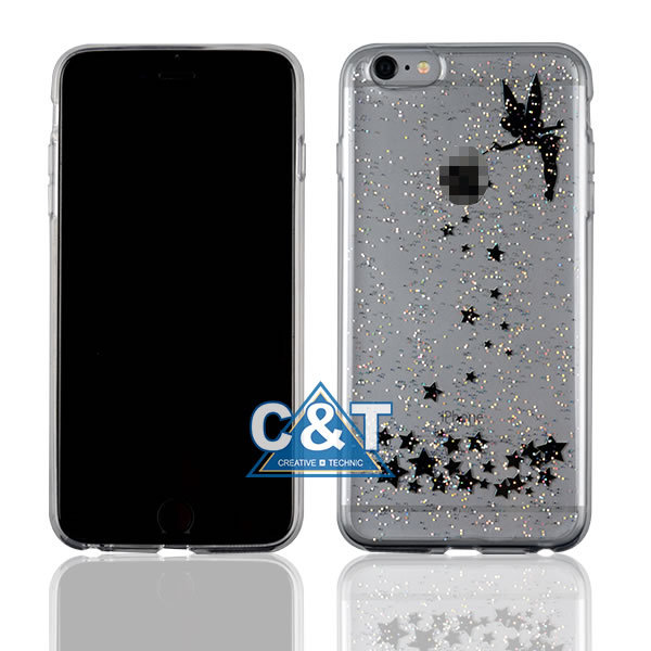 C&T Glitter Anti-gravity Selfie PC Case Magical Nano Sticky Hard Case Cover for Apple iPhone 6S