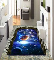 [Self-Adhesive] Australia 3D Outer Space Planet 444 Non-slip Waterproof Photo Self-Adhesive Floor Mural Sticker WallPaper Murals