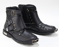Leather Kanemitsu motorcycle racing boots with odor-resistant