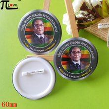 Custom President election promotional gifts 60mm round plastic tin badge for vote and elect