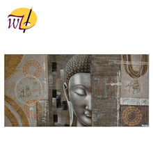 2017 hot sale modern wall art decor 3d handmade head face abstract buddha oil painting on canvas