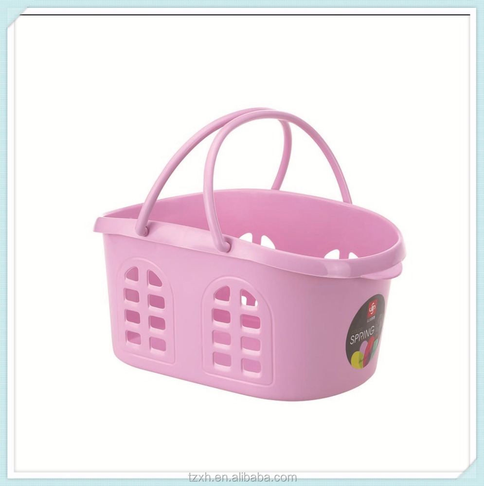 small cheap plastic pp storage basket with handle