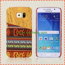 Wood Grain Hard PC Case for Samsung Galaxy S6, national wind back cover case for samsung s6