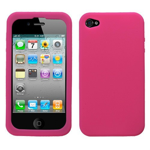 Solid Color Rubber Soft Silicone Gel Skin Bumper tpu Case Cover for iPhone 4 4S