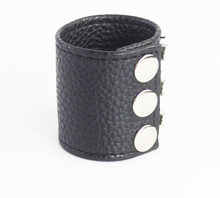 Black PVC Penis Ring Bound Cock Rings Adjustable Penis Sleeve Protection Sex Toys For Men