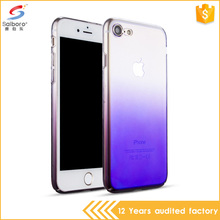 New arrival glazed semitransparent plating gradual color hard pc cellphone case cover for iphone 6