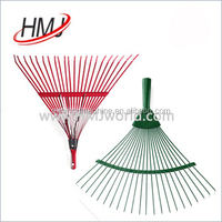 promotion price leaf grabber hand rake with fiberglass handle