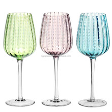 high quality fancy different color red wine glass