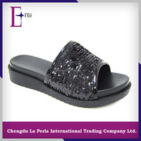 T990-B1575 ladies flat slipper pu soft slipper